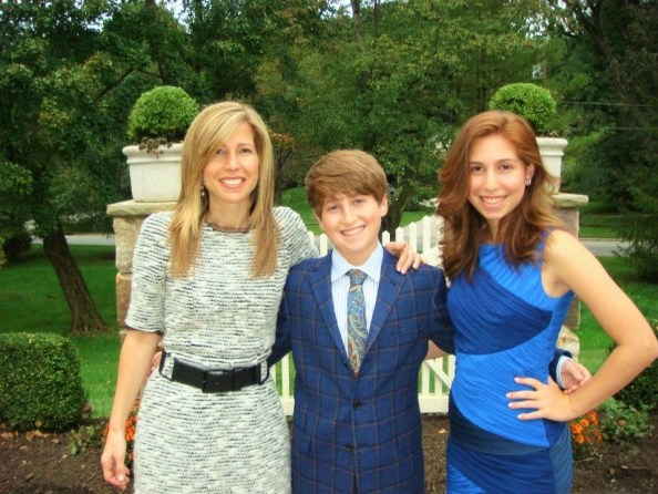 Lori Wachs with her children daughter Erica Wachs and daughter Eli Wachs