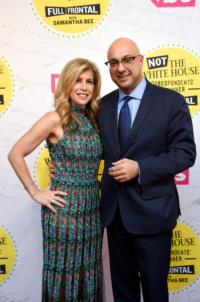 Lori Wachs with her spouse Ali Velshi attending the White House Correspondents Dinner
