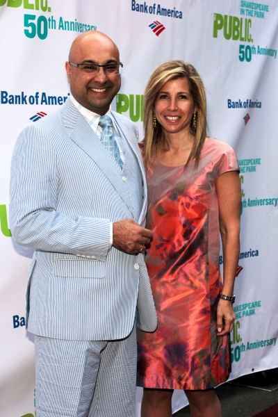 Lori Wachs with her spouse Ali Velshi