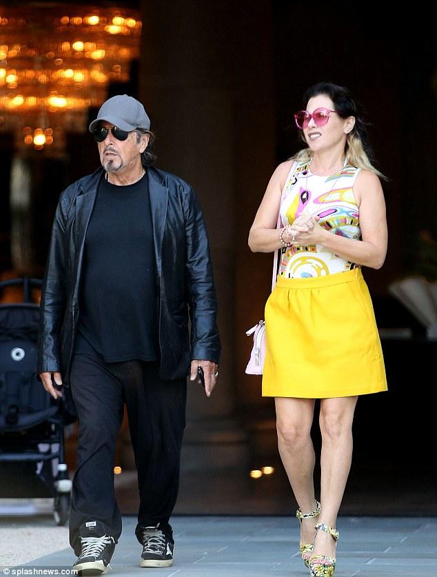 Meital Dohan with her lovler AL Pacino