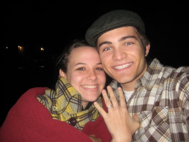 Reiley McClendon with his spouse Kristin Nicole Moore