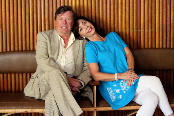 Rita Rudner with her spouse Martin Bergman
