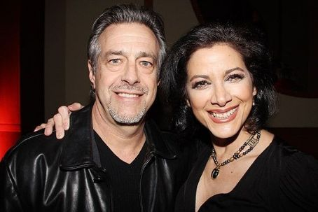 Saundra Santiago with her spouse Roger Squitero