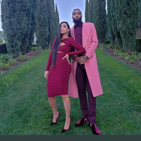 Nipsey Hussle with his partner Lauren London