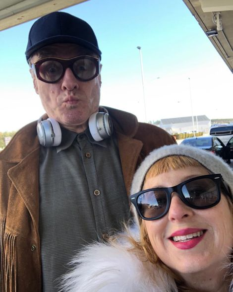 Kimmy Robertson with her supposed boyfriend Harry Goaz