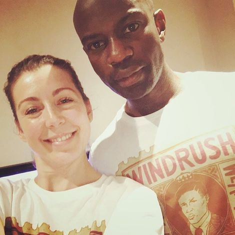 David Gyasi with his spouse Emma Gyasi