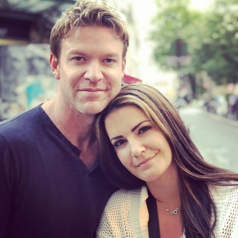 Natalia Cigliuti with her spouse Matt Passmore