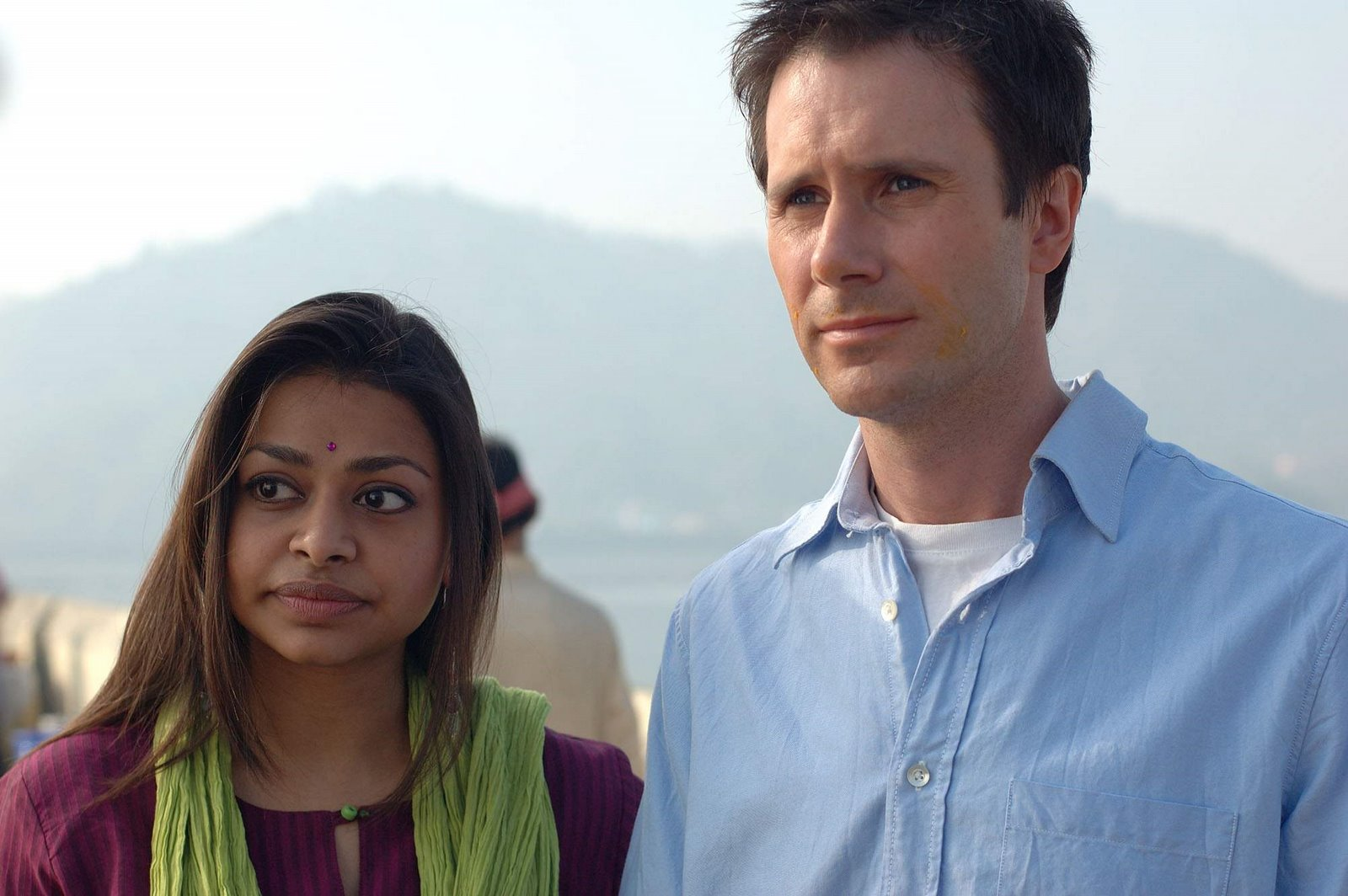 Ayesha Dharker with her spouse Robert Taylor