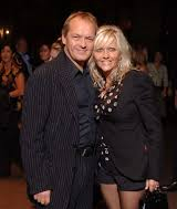 Camille Coduri with her spouse Christopher Fulford