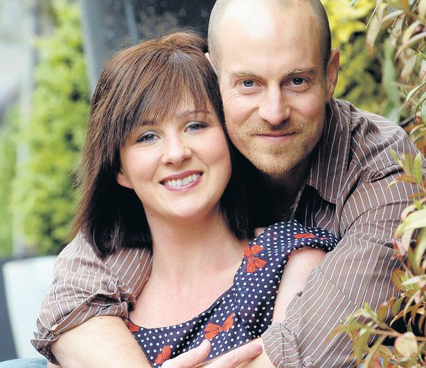 Mali Harries with her spouse Matthew Gravelle