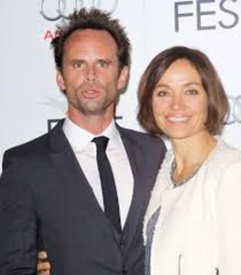 Nadia Conners with her husband Walton Goggins at an event