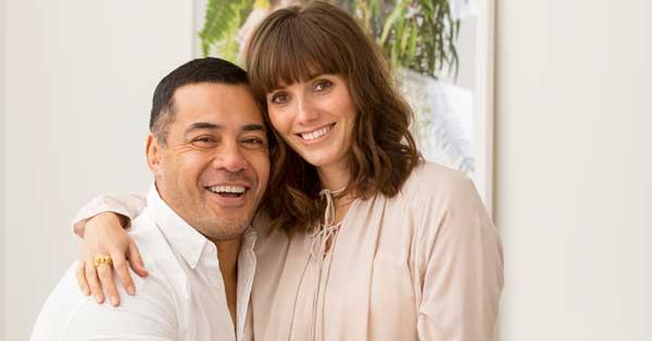 Robbie Magasiva with his spouse Natalie Medlock