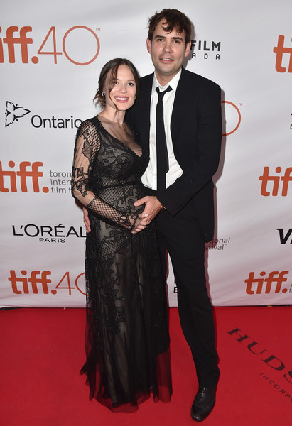 Rossif Sutherland with his spouse Celina Sinden