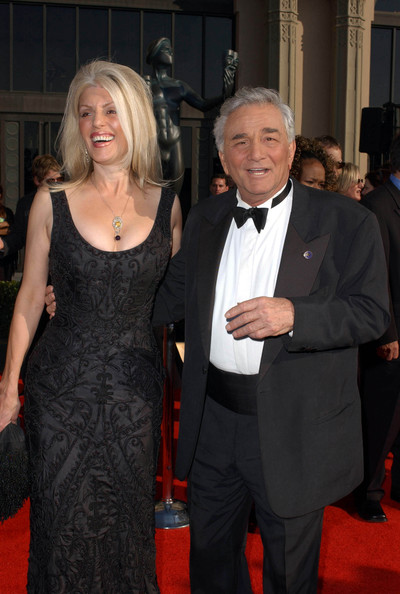 Shera Danese with her spouse Peter Falk