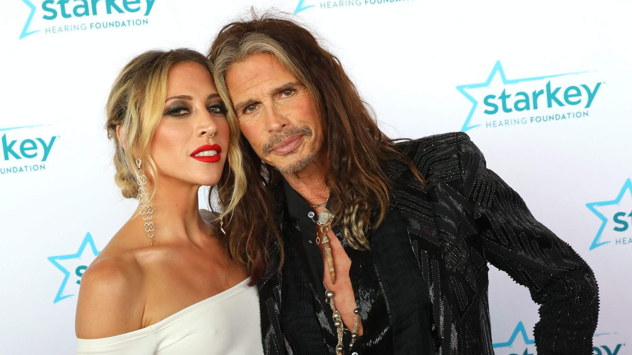 Aimee Preston with her lover Steven Tyler