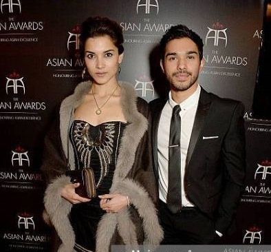 Amber Rose Revah with her sweetheart Neet Mohan