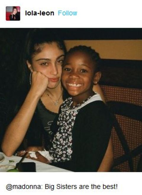 Estere and her twin sister, Stella were adopted by Madonna in when they were only four years old
