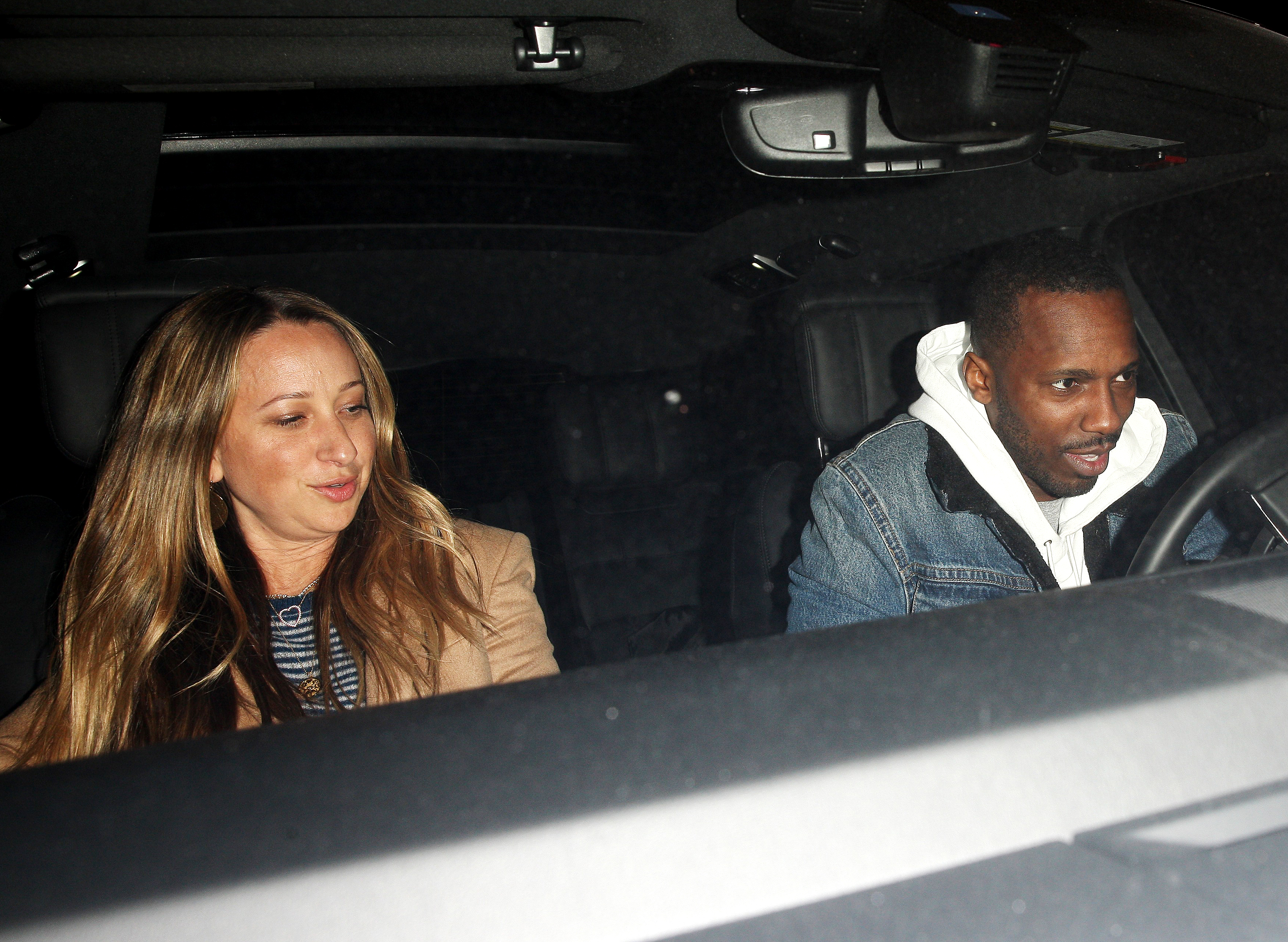 Jennifer Meyer with her parnter Rich paul