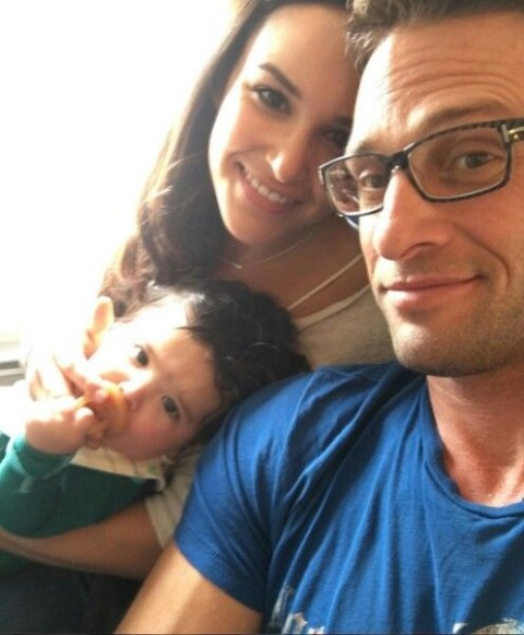 David Fumero with his wife and children