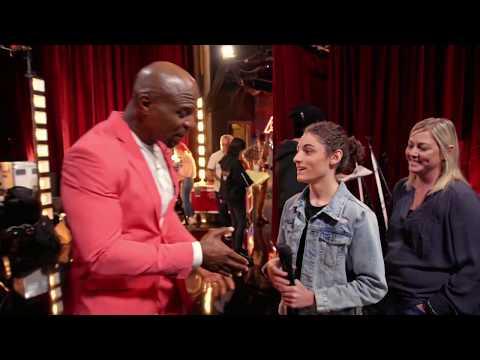 Singer Benicio Bryant at America's Got Talent's stage