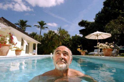 Sir Sean Connery's luxurious residence in Bahamas.