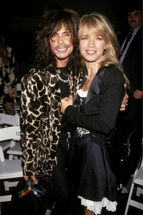 Steven Tyler with his former spouse Teresa Barrick