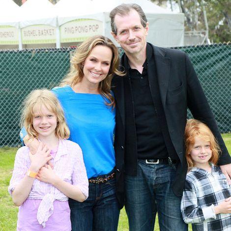 Melora Hardin with family.