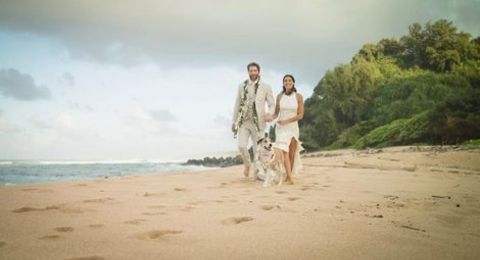 Stephanie Sigman with her husband Brian Andrew Mendoza special day