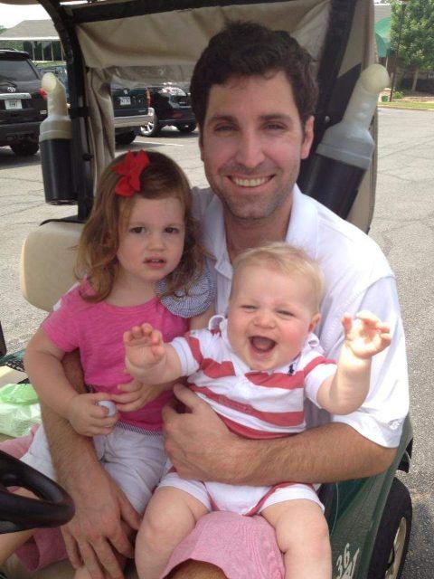 Bryan Chatfield Sanders with his children