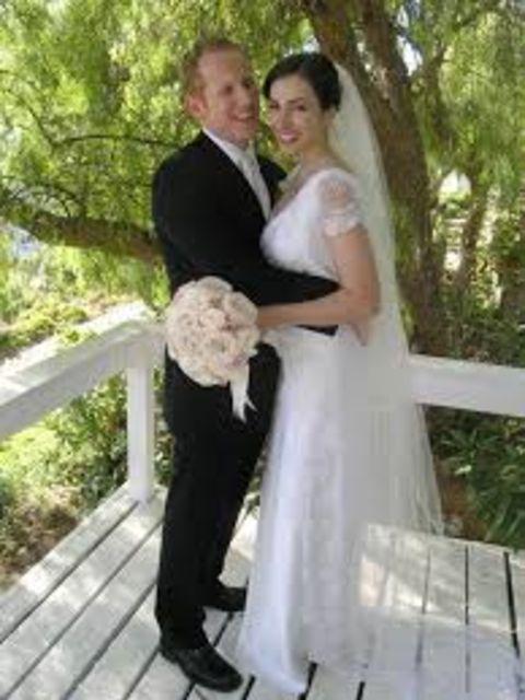 Eden Riegel and partner Andrew Miller