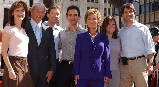 Jerry Sheindlin with his partner Judy Sheindlin and their kids