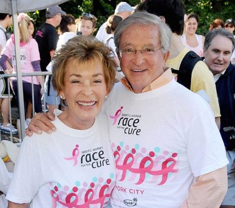 Jerry Sheindlin with his partner Judy Sheindlin