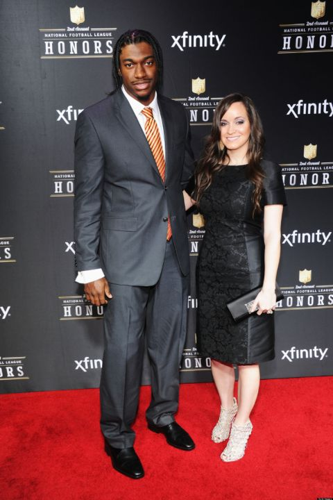 Rebecca Liddicoat and her ex-partner Robert Griffin III