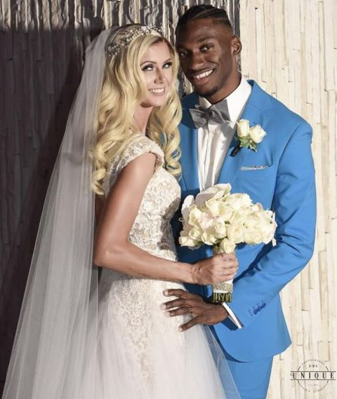 Grete Sadeiko and her partner Robert Griffin III