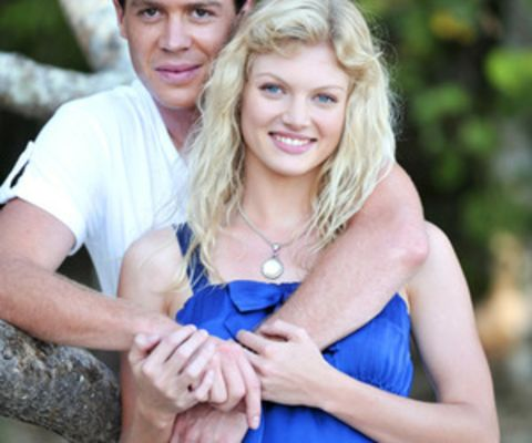 Burgess Abernethy with his girlfriend Cariba Heine