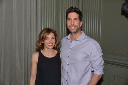 Mili Avital with former boyfriend David Schwimmer.