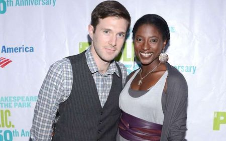 Jacob Fishel and his wife Rutina Wesley.