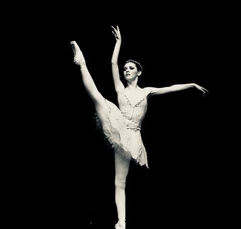 Kasha Kropinski , Hell on Wheels actress during her ballet performance.