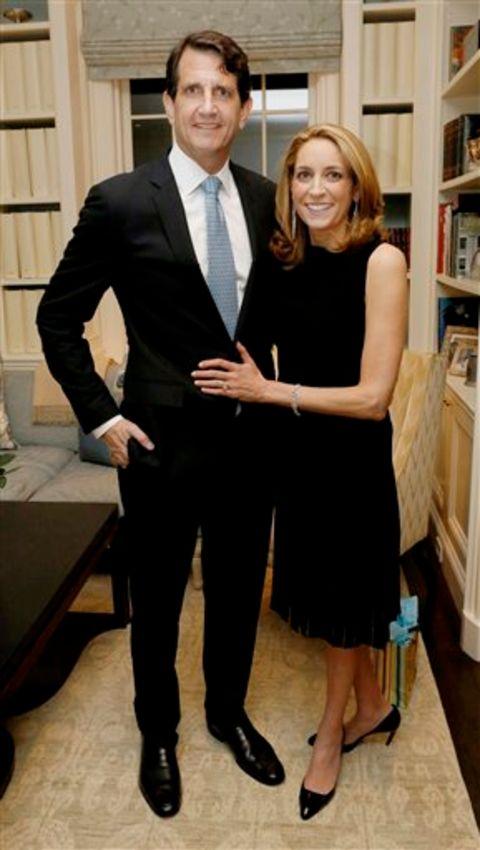Karen Finerman and her boyfriend share the wedding vows in 1993.