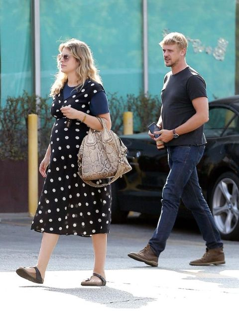 Boyd Holbrook and her husband welcomed a son.