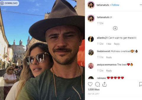Tatiana Pajkovic is happy with her husband.