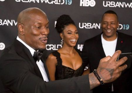 Nafessa WIlliams and Tyrese Gibson shared a screen in  the movie Black and Blue.