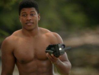 Eli Goree, topless caught on camera. Source: Net Worth TV