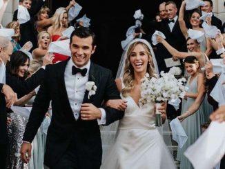 Josh Swickard happily married to the love of her life, Lorynn York.