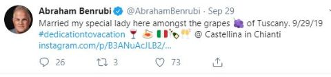 Abraham Benrubi is a married man.