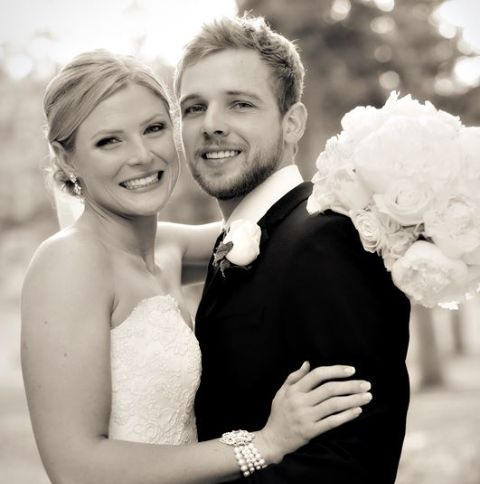 The couple tied the knot after dating for several years.