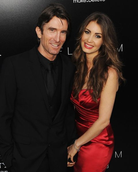 Sharlto Copley's partner is a model.