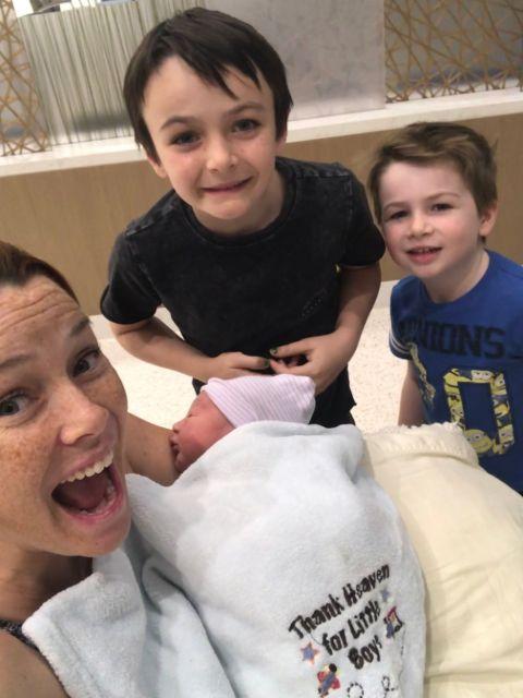 Annie Wersching and her husband are parents of three children.