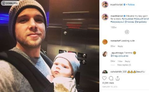 Beaux is the first child of Max Thieriot.