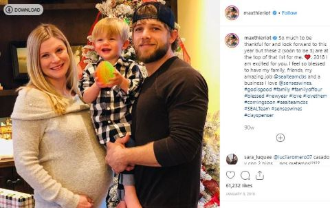 Max Thieriot is the proud father of his child.